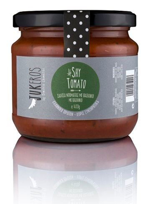 "Picture of Jukeros ""SHY TOMATO "" Handmade Tomato sauce with fresh Basil 400gr"