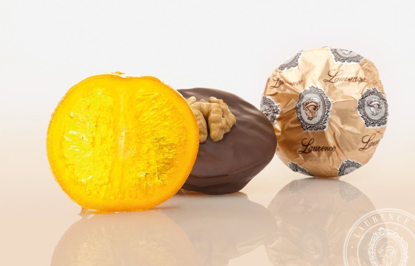 Picture of Laurence Chocolate Treats Orange - Walnut 100gr