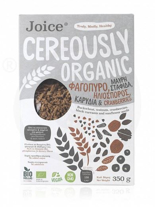 Picture of Bio Joice Cereously Healthy Cereals  with Buckwheat, Currants, Cranberries, Sunflower seeds & Walnuts 350g