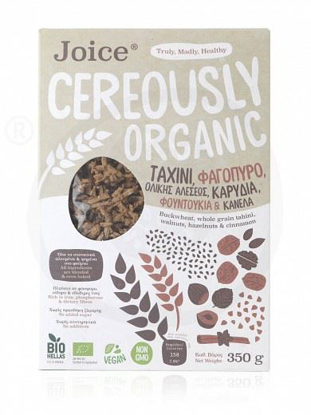Picture of Bio Joice Cereously Healthy Cerealswith wholegrain Tahini, Cinnamon & Hazelnuts 350g
