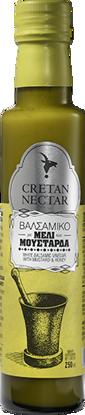Εικόνα της Cretan Nectar Λευκό Βαλσαμικό Ξύδι με Μέλι και Μουστάρδα 250ml