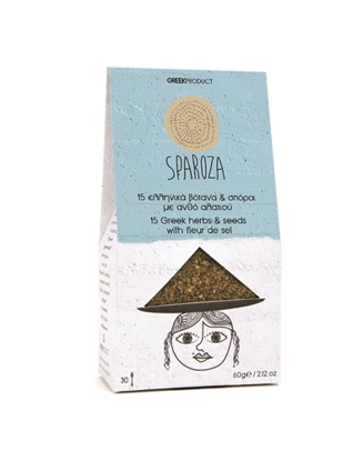 Picture of Sparoza 15 Greek herbs and seeds with fleur de sel 60gr