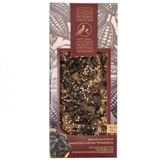 Picture of Meteora Museum Milk chocolate with Craterellus and Bergamot 100gr