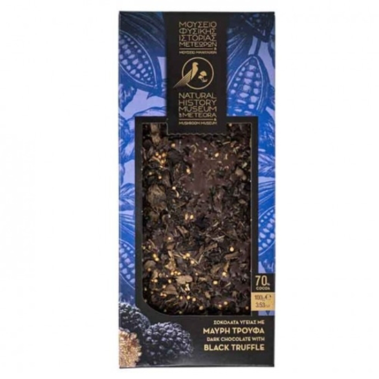 Picture of Meteora Museum Dark chocolate with Black Truffle and Thyme 100gr