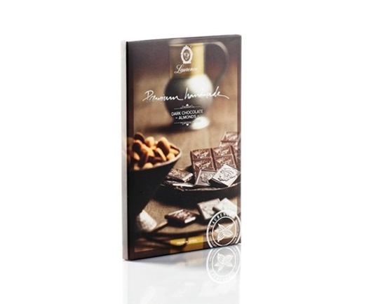 Laurence Premium Dark Chocolate with Almonds 75gr
