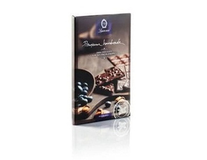 Picture of Laurence Premium Dark Chocolate with Almonds & Blueberries 80gr