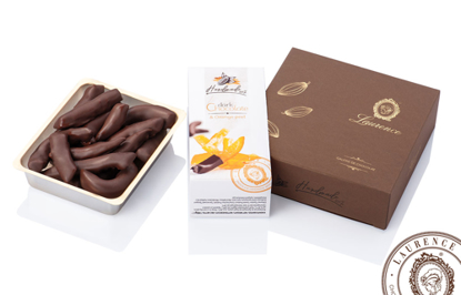 Picture of Laurence Dark chocolate with orange peels*  140gr