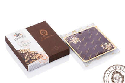 Picture of Laurence Sugar-Free Dark  Chocolate with  Almonds* 100gr